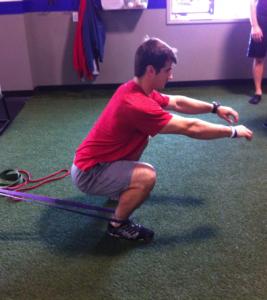 Talus ankle squat